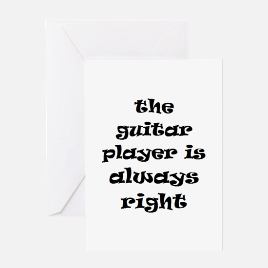 guitar always right Greeting Card