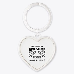 This is what an awesome Marimba pla Heart Keychain