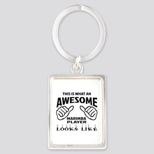 This is what an awesome Marimba Portrait Keychain