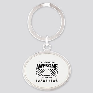 This is what an awesome Marimba play Oval Keychain
