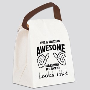 This is what an awesome Marimba p Canvas Lunch Bag