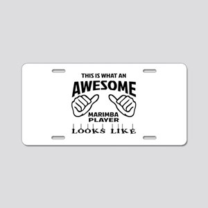This is what an awesome Mar Aluminum License Plate