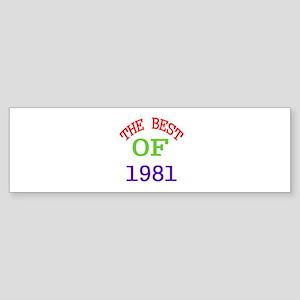 The Best Of 1981 Sticker (Bumper)