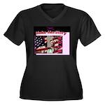 Make Herstory Dark Tshirt V Kneck Plus Sz