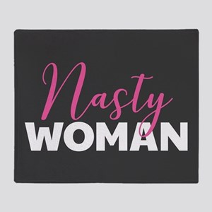 Clinton - Nasty Woman Throw Blanket