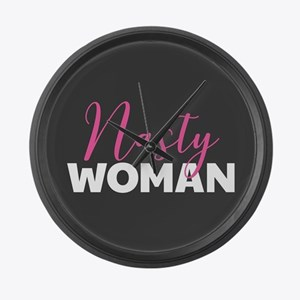 Clinton - Nasty Woman Large Wall Clock
