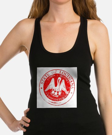 Louisiana Seal Stamp Racerback Tank Top