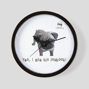Yes, I ate his logbook! PUG Wall Clock