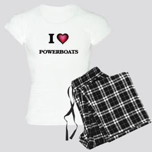 I Love Powerboats Women's Light Pajamas