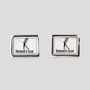 Swingers Club Rectangular Cufflinks