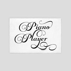 Piano Player Script 4' x 6' Rug