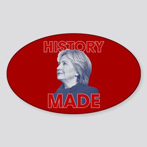 Clinton - History Made Sticker (Oval)