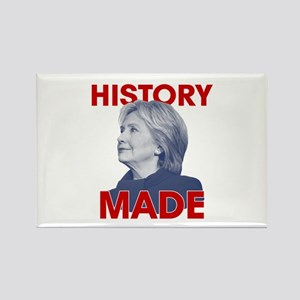 Clinton - History Made Rectangle Magnet
