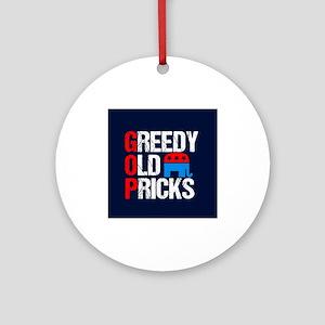 GOP Satire Round Ornament