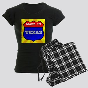 Made In Texas Shield Women's Dark Pajamas
