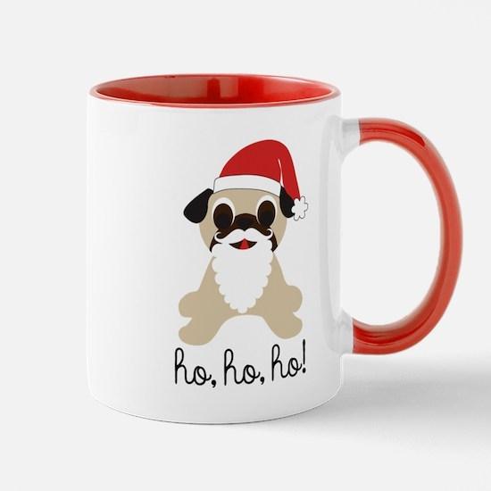 Santa Claus Pug Ho Ho Ho Mugs