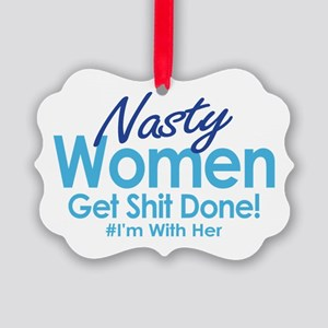 Nasty Women Ornament
