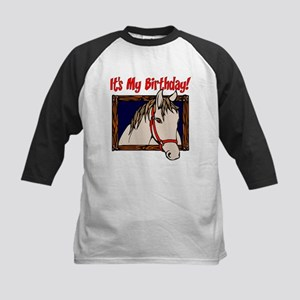 Horse Birthday Kids Baseball Jersey