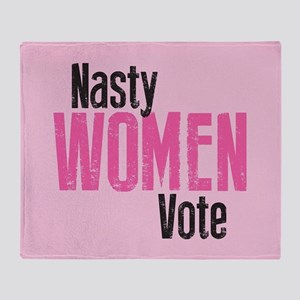 Nasty Women Vote Throw Blanket