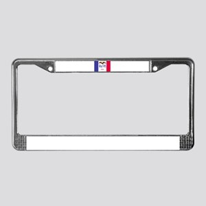 """Iowa State Flag"" License Plate Frame"