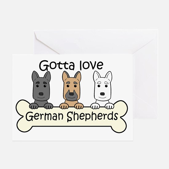 Unique Peace love german shepherds Greeting Card
