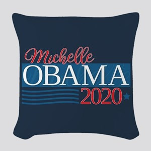 Michelle Obama 2020 Woven Throw Pillow