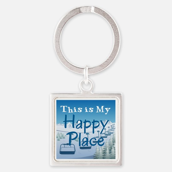 Cute Place Square Keychain