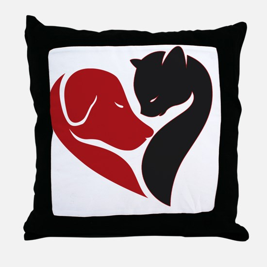 pets lovers Throw Pillow