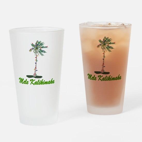 Unique Mele kalikimaka Drinking Glass