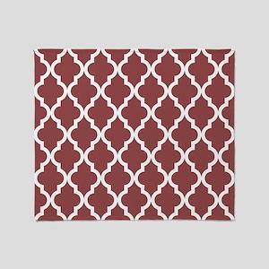 Moroccan Quatrefoil Pattern: Rustic Throw Blanket
