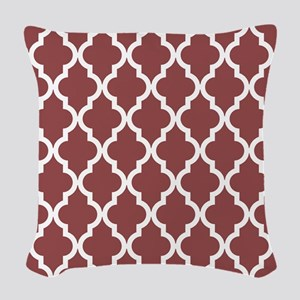 Moroccan Quatrefoil Pattern: R Woven Throw Pillow