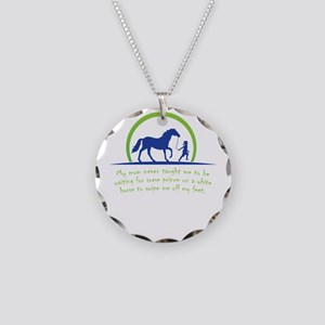 i love horse Necklace Circle Charm