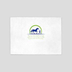i love horse 5'x7'Area Rug