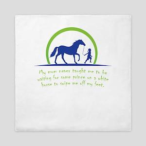i love horse Queen Duvet