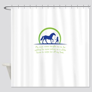 i love horse Shower Curtain