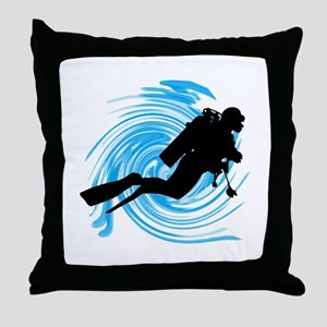 SCUBA Throw Pillow