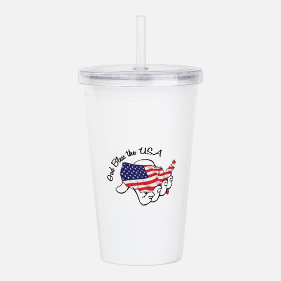 God Bless the USA Acrylic Double-wall Tumbler