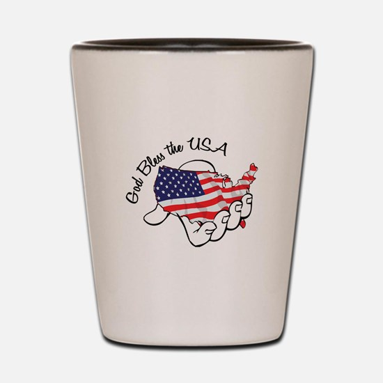 God Bless the USA Shot Glass