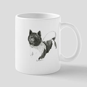 Akita-1-drawing Mugs