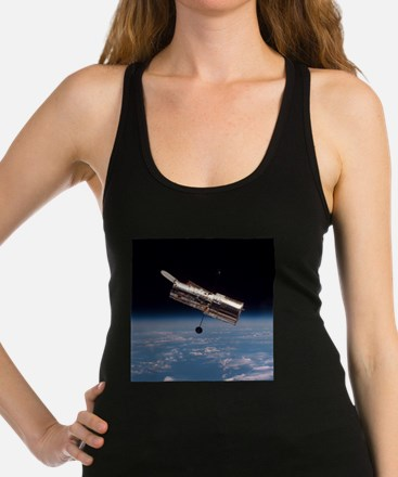 Hubble Space Telescope in orbit Racerback Tank Top
