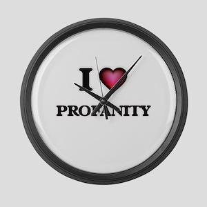 I Love Profanity Large Wall Clock