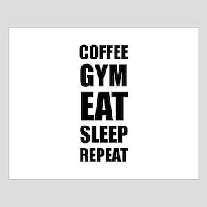 Coffee Gym Work Eat Sleep Repeat Posters
