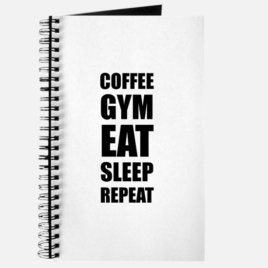 Coffee Gym Work Eat Sleep Repeat Journal