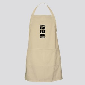 Coffee Gym Work Eat Sleep Repeat Apron