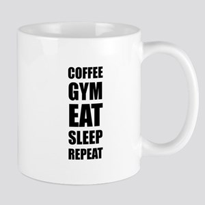 Coffee Gym Work Eat Sleep Repeat Mugs