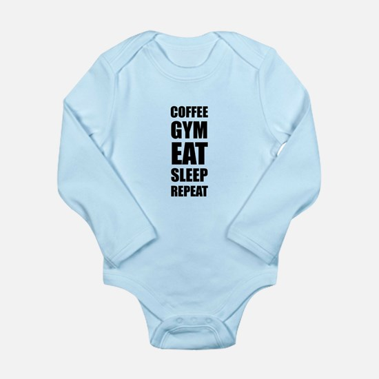 Coffee Gym Work Eat Sleep Repeat Body Suit