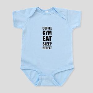 Coffee Gym Work Eat Sleep Repeat Body Suit