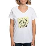 Vote Rudy Giuliani Reminder Women's V-Neck T-Shirt