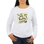 Vote Rudy Giuliani Reminder Women's Long Sleeve T-