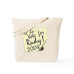 Vote Rudy Giuliani Reminder Tote Bag